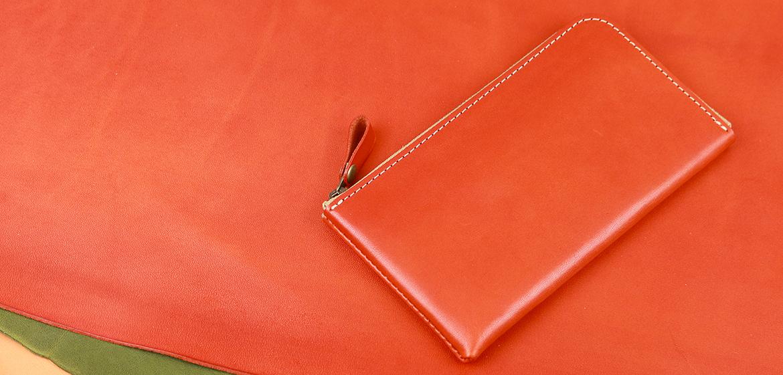 栃木レザーの薄型長財布